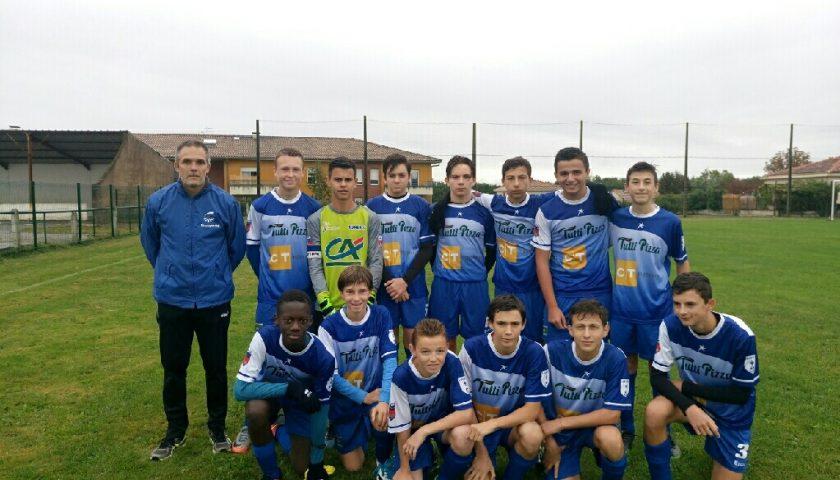 U15A: courte défaite face à Malause/St Nicolas