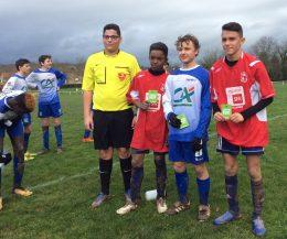 U15: match nul face à Payrin Rigautou … et carton vert pour un joueur du Lavaur FC
