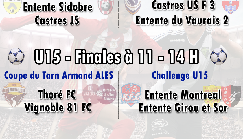 U17 à 8: finale départementale contre Castres le 26 mai
