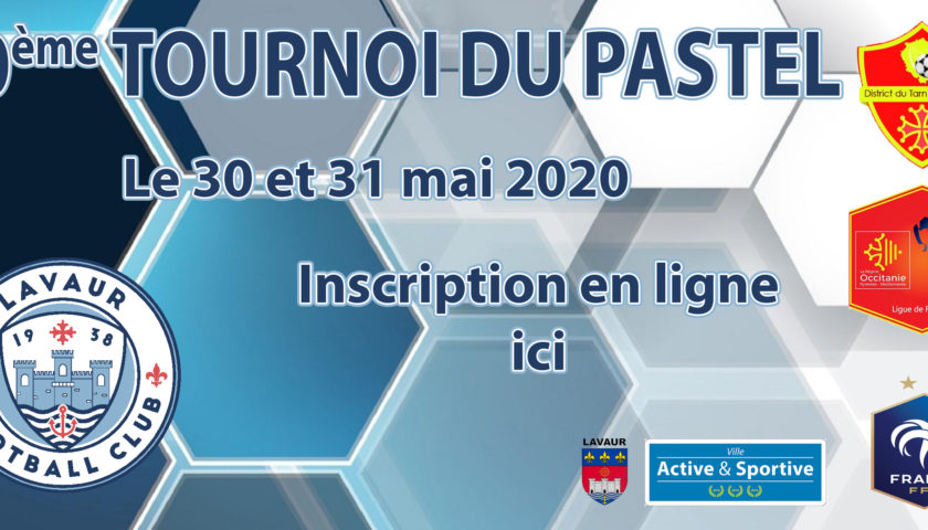 TOURNOI DU PASTEL 2020 DEMANDE INSCRIPTION