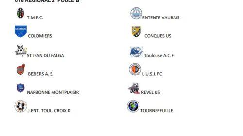 Changement de Poule pour les U16 R2 du Lavaur FC