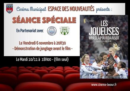 ÉVÊNEMENT CINEMA POUR LE FOOTBALL FÉMININ AU CINÉMA DE LAVAUR !
