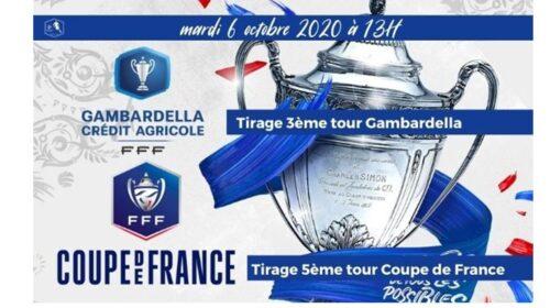 Coupe de France  5° tour le tirage Mardi 6 octobre …